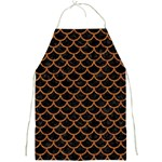 SCALES1 BLACK MARBLE & RUSTED METAL (R) Full Print Aprons Front