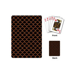 Scales1 Black Marble & Rusted Metal (r) Playing Cards (mini)