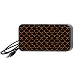 SCALES1 BLACK MARBLE & RUSTED METAL (R) Portable Speaker Front