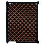 SCALES1 BLACK MARBLE & RUSTED METAL (R) Apple iPad 2 Case (Black) Front