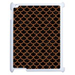 SCALES1 BLACK MARBLE & RUSTED METAL (R) Apple iPad 2 Case (White) Front