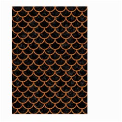 Scales1 Black Marble & Rusted Metal (r) Large Garden Flag (two Sides)