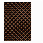 SCALES1 BLACK MARBLE & RUSTED METAL (R) Large Garden Flag (Two Sides) Back