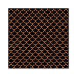 SCALES1 BLACK MARBLE & RUSTED METAL (R) Acrylic Tangram Puzzle (6  x 6 ) Front