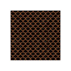 Scales1 Black Marble & Rusted Metal (r) Acrylic Tangram Puzzle (4  X 4 )