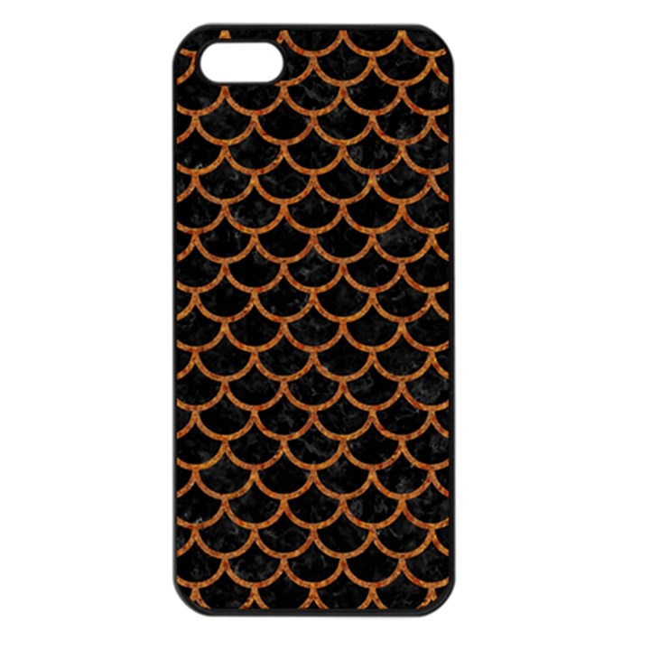 SCALES1 BLACK MARBLE & RUSTED METAL (R) Apple iPhone 5 Seamless Case (Black)