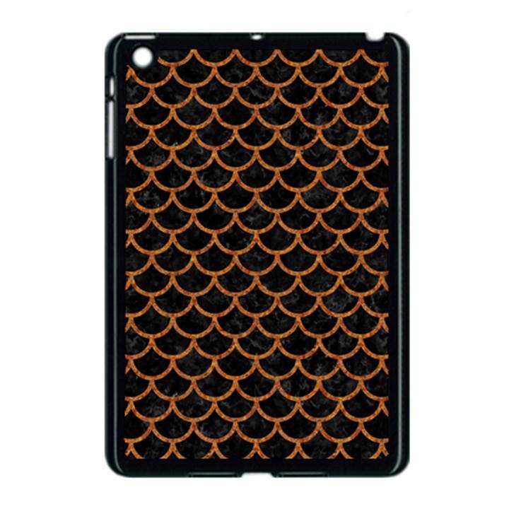 SCALES1 BLACK MARBLE & RUSTED METAL (R) Apple iPad Mini Case (Black)