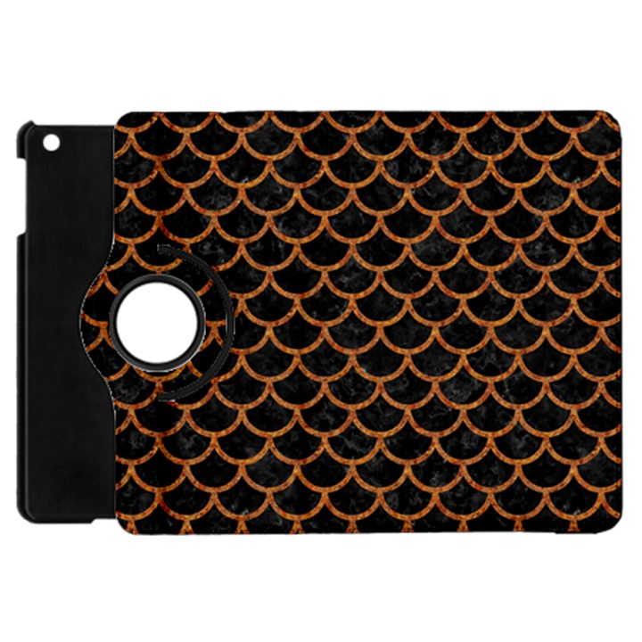SCALES1 BLACK MARBLE & RUSTED METAL (R) Apple iPad Mini Flip 360 Case