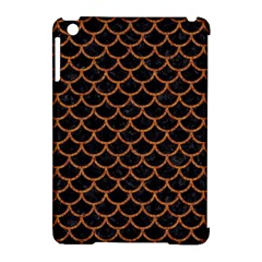 Scales1 Black Marble & Rusted Metal (r) Apple Ipad Mini Hardshell Case (compatible With Smart Cover)