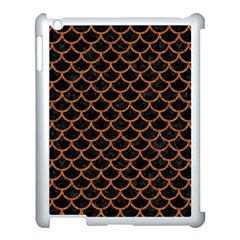 Scales1 Black Marble & Rusted Metal (r) Apple Ipad 3/4 Case (white)