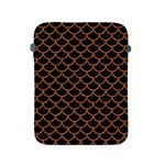 SCALES1 BLACK MARBLE & RUSTED METAL (R) Apple iPad 2/3/4 Protective Soft Cases Front