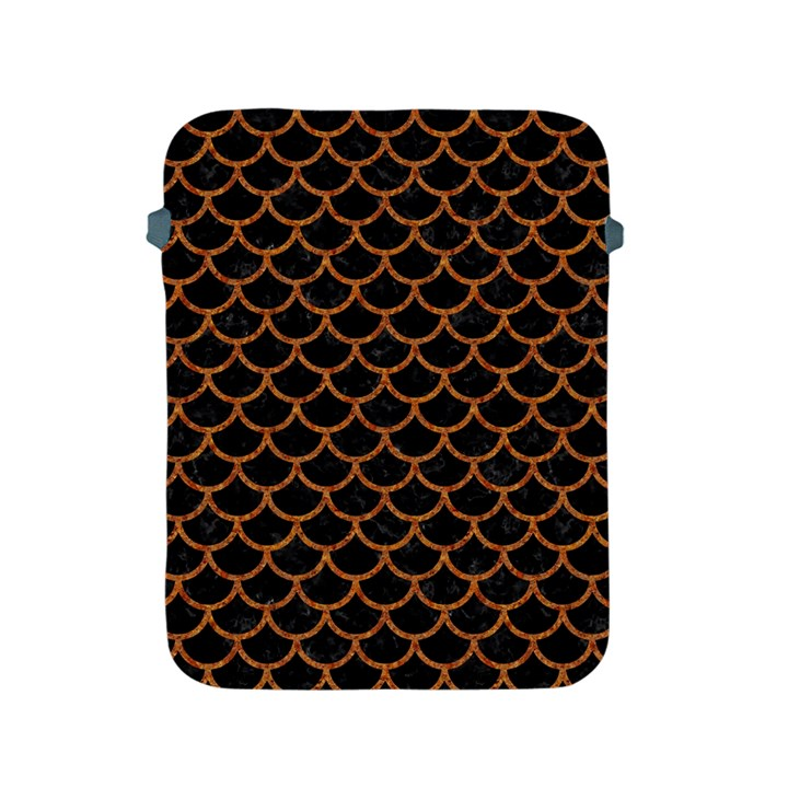 SCALES1 BLACK MARBLE & RUSTED METAL (R) Apple iPad 2/3/4 Protective Soft Cases