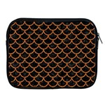 SCALES1 BLACK MARBLE & RUSTED METAL (R) Apple iPad 2/3/4 Zipper Cases Front