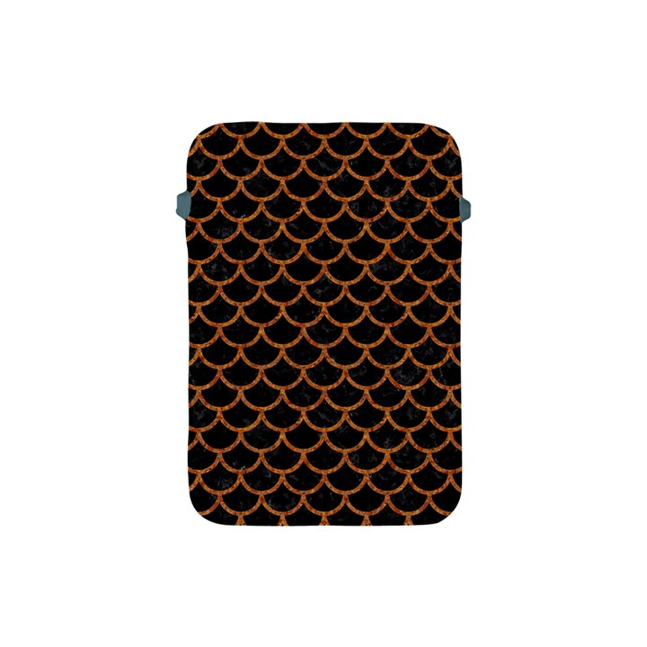 SCALES1 BLACK MARBLE & RUSTED METAL (R) Apple iPad Mini Protective Soft Cases