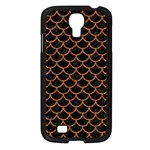 SCALES1 BLACK MARBLE & RUSTED METAL (R) Samsung Galaxy S4 I9500/ I9505 Case (Black) Front