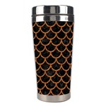 SCALES1 BLACK MARBLE & RUSTED METAL (R) Stainless Steel Travel Tumblers Right