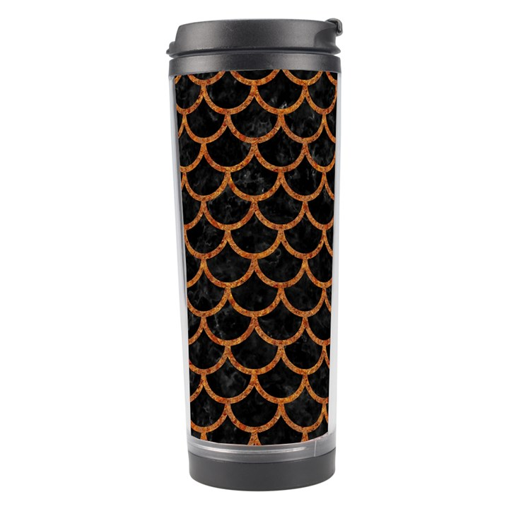 SCALES1 BLACK MARBLE & RUSTED METAL (R) Travel Tumbler
