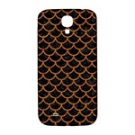 SCALES1 BLACK MARBLE & RUSTED METAL (R) Samsung Galaxy S4 I9500/I9505  Hardshell Back Case Front