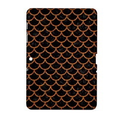 Scales1 Black Marble & Rusted Metal (r) Samsung Galaxy Tab 2 (10 1 ) P5100 Hardshell Case