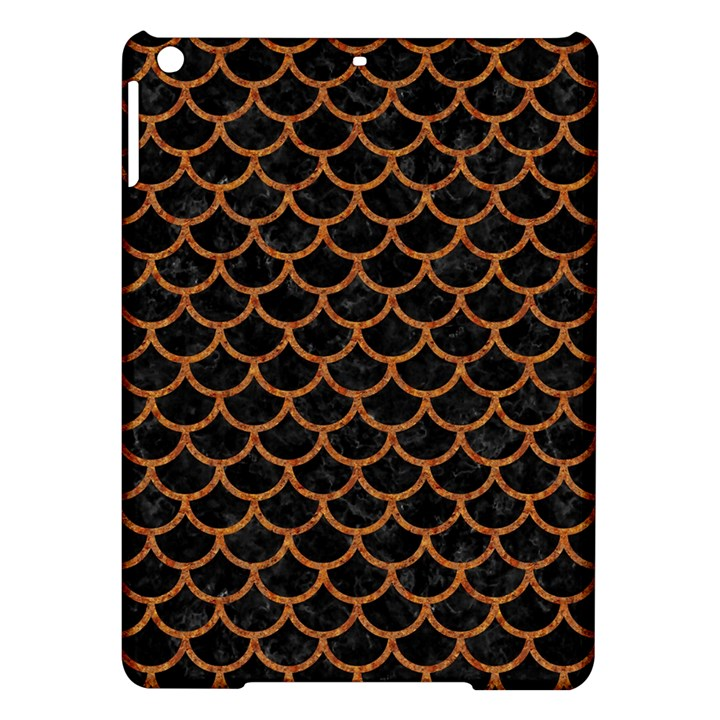 SCALES1 BLACK MARBLE & RUSTED METAL (R) iPad Air Hardshell Cases