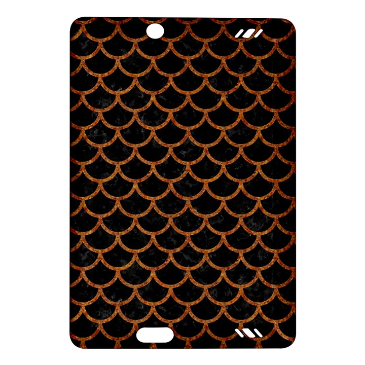 SCALES1 BLACK MARBLE & RUSTED METAL (R) Amazon Kindle Fire HD (2013) Hardshell Case