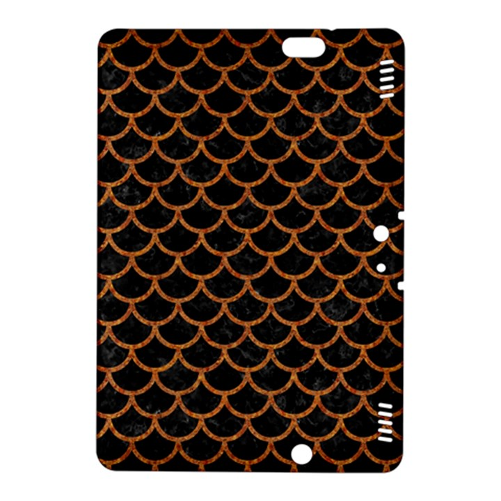 SCALES1 BLACK MARBLE & RUSTED METAL (R) Kindle Fire HDX 8.9  Hardshell Case