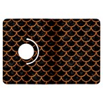 SCALES1 BLACK MARBLE & RUSTED METAL (R) Kindle Fire HDX Flip 360 Case Front