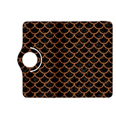 Scales1 Black Marble & Rusted Metal (r) Kindle Fire Hdx 8 9  Flip 360 Case