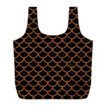 SCALES1 BLACK MARBLE & RUSTED METAL (R) Full Print Recycle Bags (L)  Front