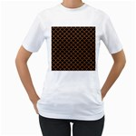 SCALES1 BLACK MARBLE & RUSTED METAL (R) Women s T-Shirt (White)  Front