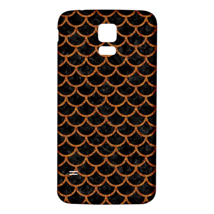SCALES1 BLACK MARBLE & RUSTED METAL (R) Samsung Galaxy S5 Back Case (White)