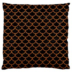 Scales1 Black Marble & Rusted Metal (r) Standard Flano Cushion Case (one Side)