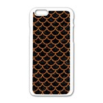 SCALES1 BLACK MARBLE & RUSTED METAL (R) Apple iPhone 6/6S White Enamel Case Front