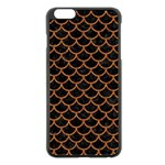 SCALES1 BLACK MARBLE & RUSTED METAL (R) Apple iPhone 6 Plus/6S Plus Black Enamel Case Front