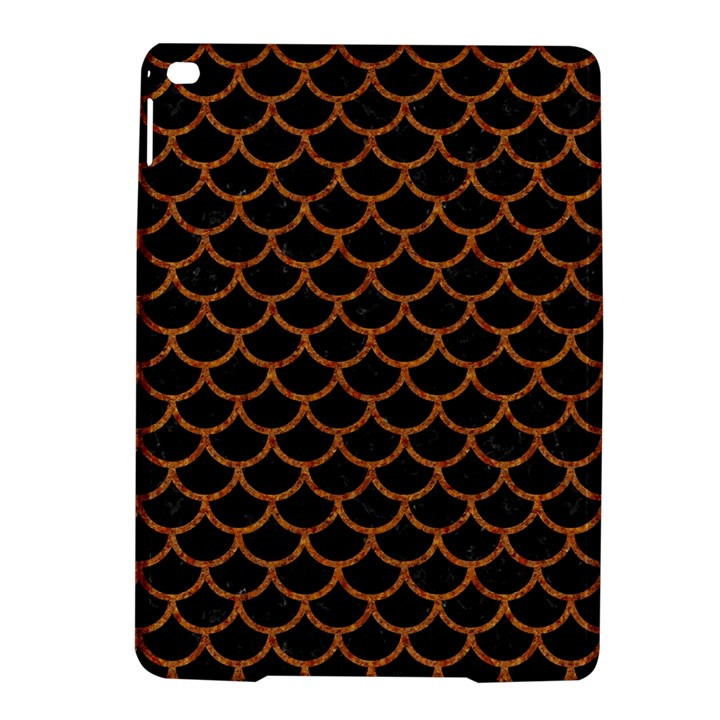 SCALES1 BLACK MARBLE & RUSTED METAL (R) iPad Air 2 Hardshell Cases