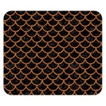 SCALES1 BLACK MARBLE & RUSTED METAL (R) Double Sided Flano Blanket (Small)  50 x40 Blanket Front