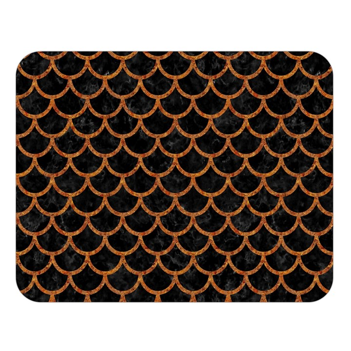 SCALES1 BLACK MARBLE & RUSTED METAL (R) Double Sided Flano Blanket (Large)