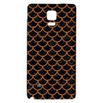 SCALES1 BLACK MARBLE & RUSTED METAL (R) Galaxy Note 4 Back Case Front