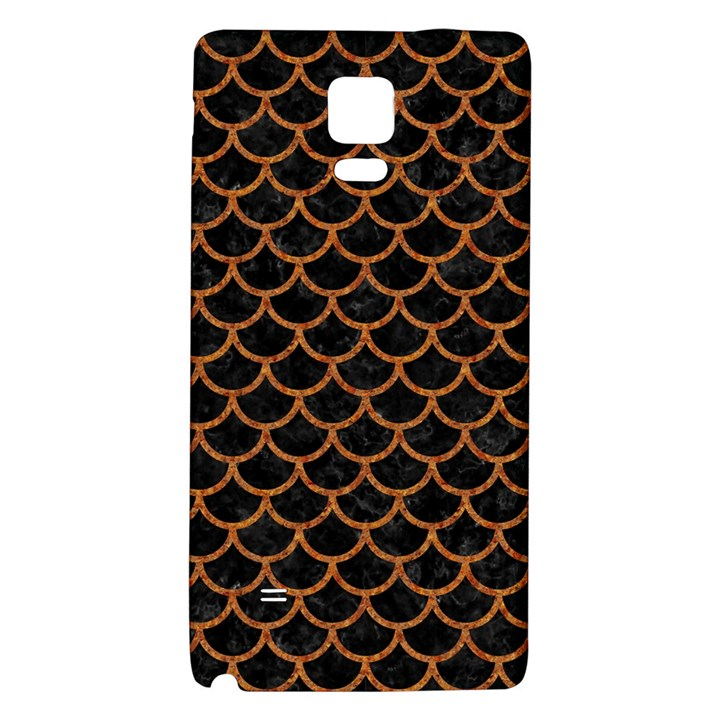 SCALES1 BLACK MARBLE & RUSTED METAL (R) Galaxy Note 4 Back Case