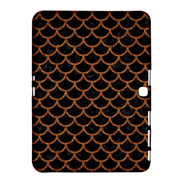 SCALES1 BLACK MARBLE & RUSTED METAL (R) Samsung Galaxy Tab 4 (10.1 ) Hardshell Case