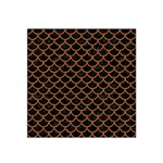 SCALES1 BLACK MARBLE & RUSTED METAL (R) Satin Bandana Scarf Front