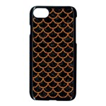 SCALES1 BLACK MARBLE & RUSTED METAL (R) Apple iPhone 7 Seamless Case (Black) Front