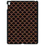 SCALES1 BLACK MARBLE & RUSTED METAL (R) Apple iPad Pro 9.7   Black Seamless Case Front