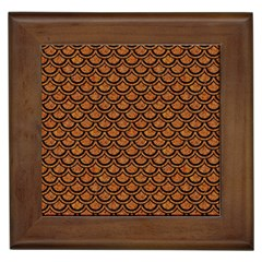 Scales2 Black Marble & Rusted Metal Framed Tiles