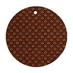 SCALES2 BLACK MARBLE & RUSTED METAL Ornament (Round) Front