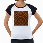 SCALES2 BLACK MARBLE & RUSTED METAL Women s Cap Sleeve T Front