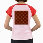 SCALES2 BLACK MARBLE & RUSTED METAL Women s Cap Sleeve T-Shirt Back