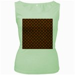 SCALES2 BLACK MARBLE & RUSTED METAL Women s Green Tank Top Front