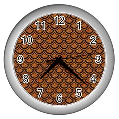 Scales2 Black Marble & Rusted Metal Wall Clocks (silver)