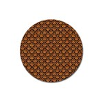 SCALES2 BLACK MARBLE & RUSTED METAL Magnet 3  (Round) Front